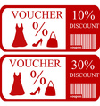 10 and 30 discount vouchers vector image