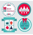 Christmas labels in retro vintage style vector image vector image