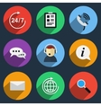 call center icons vector image