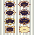 selection of vintage labels vector image vector image