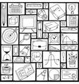 Mathematics science theme Seamless hand drawn vector image