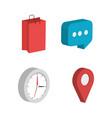 business set isometrics icons vector image