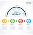 business timeline infographics with 4 circles vector image