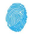 fingerprint icon image vector image