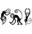 Funny monkeys set vector image