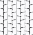 Geometrical ornament with white and gray vertical vector image