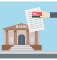 Hand credit card document bank vector image