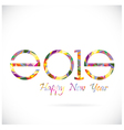 Happy new year 2015 card design vector image