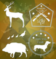 Hunting club design elements vector image