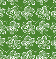 seamless pattern of chestnut leaves vector image