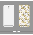 Phone Cover Yellow Flowers On White vector image