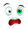 Surprised emoticon sign vector image