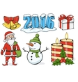 - set of christmas icons vector image vector image