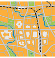 seamless city map vector image vector image