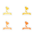 Set of paper stickers on white background Thailand vector image
