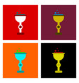 assembly flat icons cup potion vector image