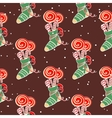 Christmas Pattern Lollipops vector image