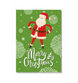 merry christmas postcards with santa claus winter vector image