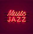 neon music jazz signboard vector image