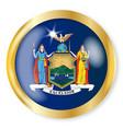 new york flag button vector image