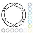 rotation circle icon vector image