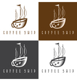 ship and coffee cup concept set vector image