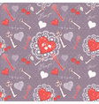Valentine romantic love seamless pattern vector image