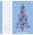 Decorative card with New year tree vector image