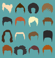 Mens Hairdo Styles in Color vector image vector image