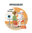 medical eye care template vector image vector image