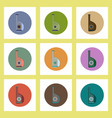 flat icons set of ukrainian national items concept vector image