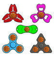Hand spinner toys with basketball ball flat vector image