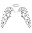 wings angel tattoo design vector image