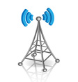 communication antenna vector image vector image
