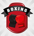 Boxing gloves design vector image