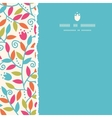 Colorful Branches Square Torn Frame Seamless vector image