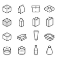 Packaging outline icons vector image