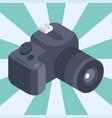 photo camera isometric reflection movie vector image