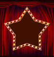 retro star billboard red theater curtain vector image