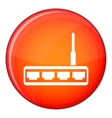 Router icon flat style vector image