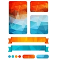 Set of colorful design elements vector image vector image