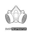 outline multi-purpose respirator vector image vector image