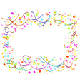 confetti and ribbons vector image vector image