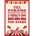 circus vintage poster for your design vector image vector image