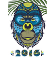 The year of the monkey vector image vector image