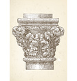 Vintage column capital vector image