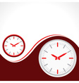 clock with red background vector image