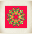 golden star vintage christmas star vector image
