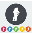 Knee-joint single icon vector image