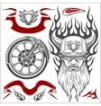 Motorcycle Elements Set vector image